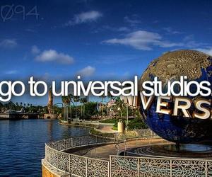 bucket list, universal studios, and universal image