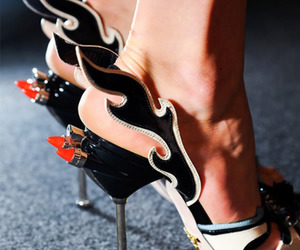 heels, shoes, and Prada image