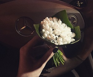 flowers, style, and white image