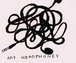 quotes, thoughts, and headphones image