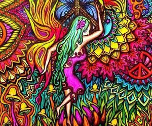 hippie, colors, and drugs image