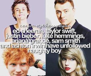Taylor Swift, ed sheeran, and naughty boy image