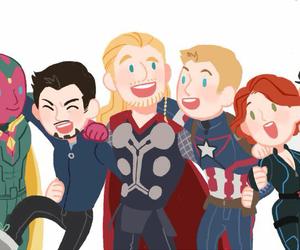 Avengers, iron man, and thor image