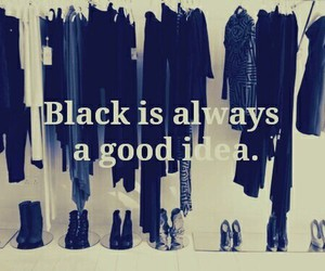black, clothes, and always image