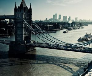 london, city, and bridge image