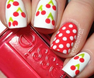 nails, cherry, and red image