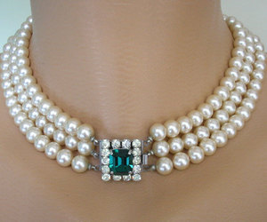 etsy, vintage pearl choker, and crystalpearljewelry image