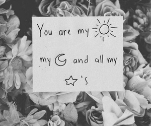 love, stars, and moon image