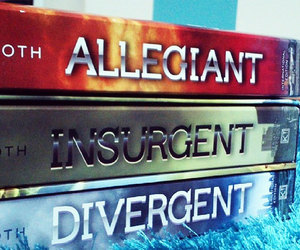 divergent, insurgent, and book image