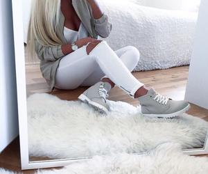 blonde, shoes, and style image