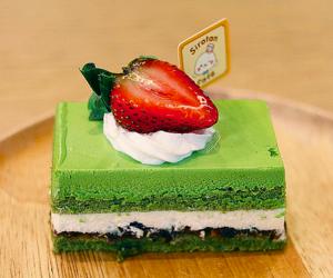 cake, food, and green tea image