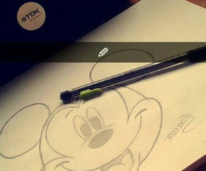 draw, mickey, and ✏ image
