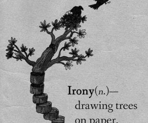 irony, tree, and Paper image