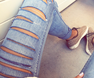 jeans, calvinklein, and whitenails image