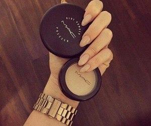 mac, nails, and makeup image