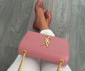 bag, outfit, and pink image