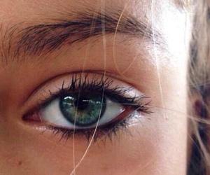 eyes, eye, and green image