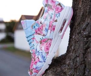 nike, flowers, and girl image