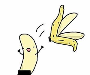 banana, funny, and naked image
