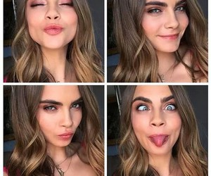 cara, eyebrows, and funny image