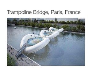 paris, france, and trampoline image