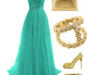 dress, night, and outfit image