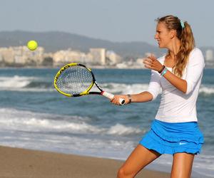 beach, tennis, and victoria azarenka image