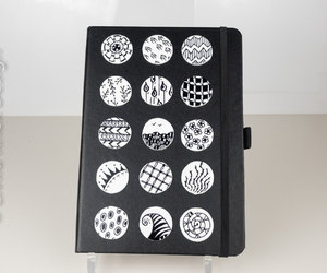 notebook, polymer clay, and black notebook image