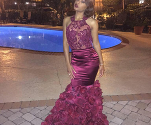 burgundy, dresses, and gorgeous image