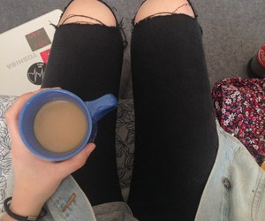 black, cafe, and grunge image