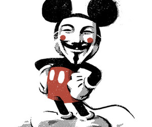 mickey mouse, v for vendetta, and anonymus image