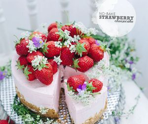 strawberry, cheesecake, and delicious image