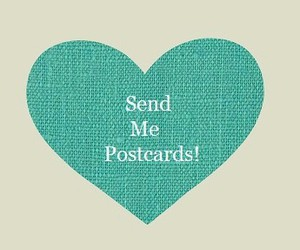 postcard, heart, and send image