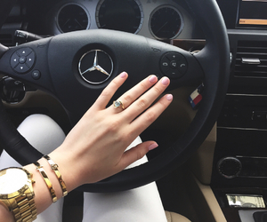 mercedes, car, and fashion image