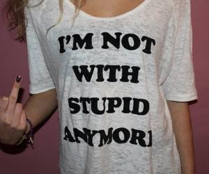 fashion, fuck, and t-shirt image