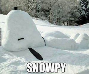 snow, snoopy, and funny image