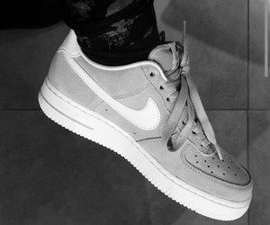 grey, nike, and shoes image
