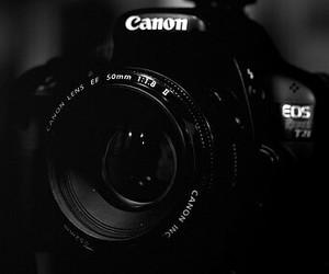 b&w, camera, and canon image