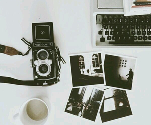 camera, coffe, and moments image