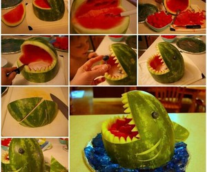 shark, watermelon, and food image