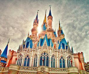 castle, disney world, and disneyland image