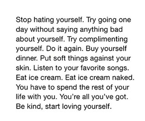 compliment, ice cream, and be kind image