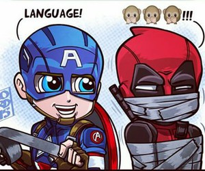 language, deadpool, and Avengers image