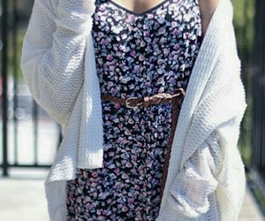 fashion, floral dress, and girly image