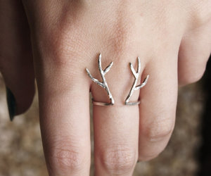 antlers, ring, and jewelry image