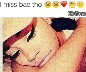 miss you, never talk, and missing bae image
