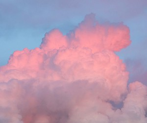 clouds, nature, and pink image