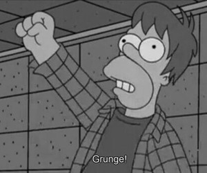 grunge, simpsons, and the simpsons image