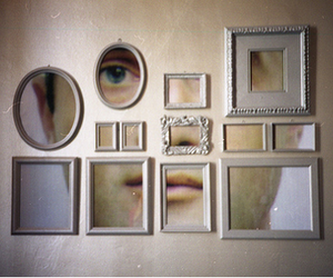 art, beige, and face image