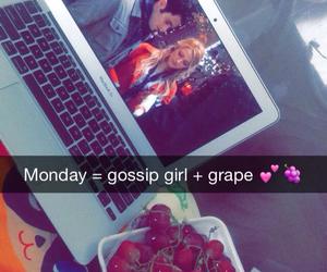 apple, gossip girl, and grape image